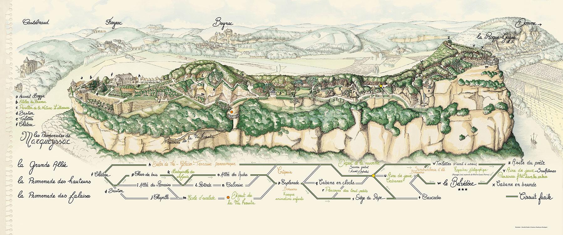 The overhanging gardens of Marqueyssac Dordogne Sarlat garden map
